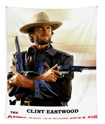 The Outlaw Josey Wales, Clint Eastwood, Movie Poster Tapestry