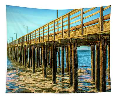 The Pier At Avila Beach California Tapestry
