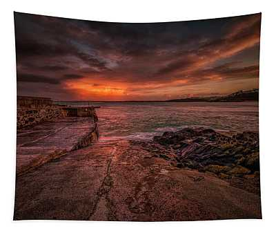 The Pier Sunset Tapestry