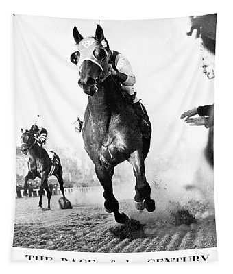The Race Of The Century, Seabiscuit And War Admiral, Pimlico Race Course Tapestry