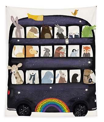 The Rainbow Bus Tapestry