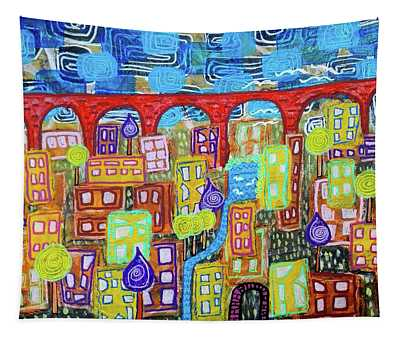 The Red Bridge Tapestry