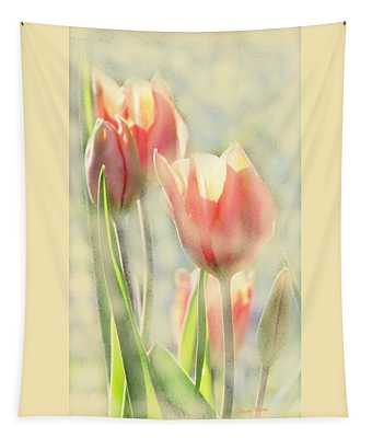 The Scent Of Tulips Tapestry