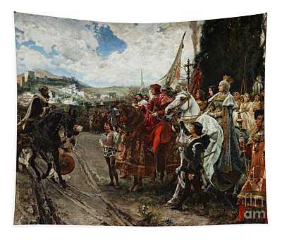 The Surrender Of Granada Tapestry