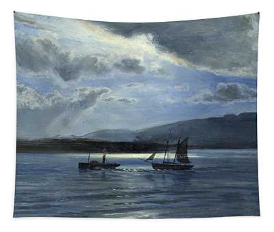 The Traeth Maur, Portmadee, Moonlight - Twilight Tapestry