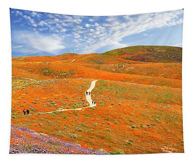 The Trail Through The Poppies Tapestry