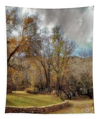 The Turquoise Door Tapestry