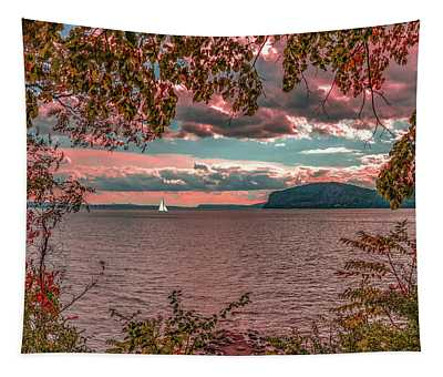 The View From Croton Point Tapestry