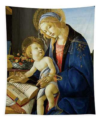 The Virgin And Child, The Madonna Of The Book Tapestry