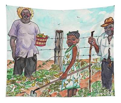 The Washington's - Our Neighbors On The Farm Tapestry