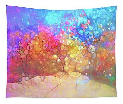 The Winter Path Dreams Of Summer Nights Tapestry