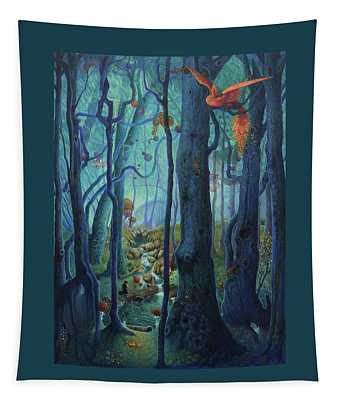 The World Between The Trees Tapestry