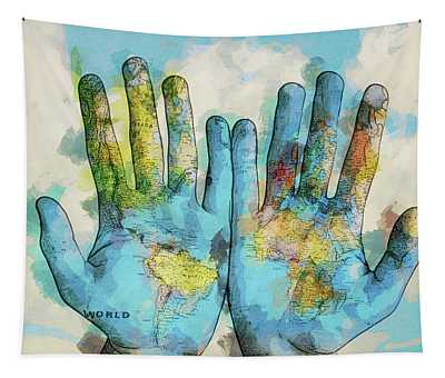 The World Is In My Hands - Dwp6004973 Tapestry