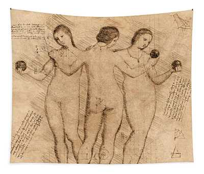 Three Graces - II Tapestry