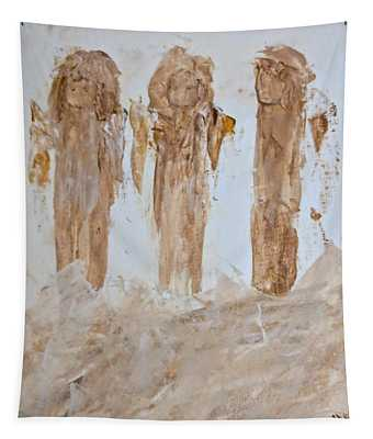 Three Little Muddy Angels Tapestry