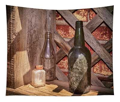 Three Old Bottles Tapestry
