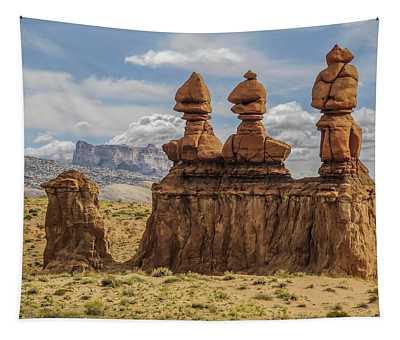 Three Sisters Hoodoos Goblin Valley State Park Tapestry