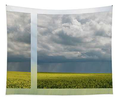 Thunderstorm Over The Canola Tapestry