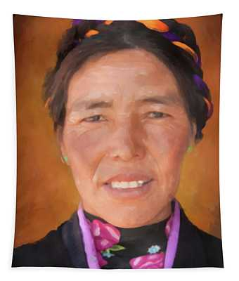 Tibetan Woman - Dwp5001360 Tapestry