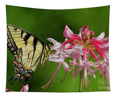 Tiger Swallowtaill On Wild Azalea Tapestry