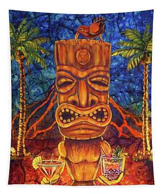 Tiki Cocktail Hour Tapestry