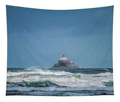Tillamook Rock Lighthouse Near Cannon Beach Tapestry