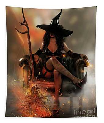 Witch Hat Digital Art Wall Tapestries