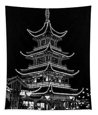 Tivoli Gardens 2 Bw Tapestry