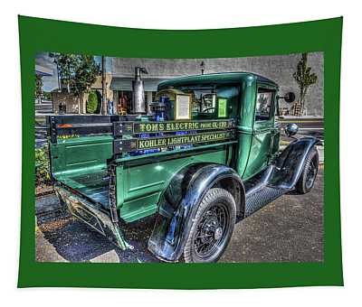 Tom's Electric Truck Tapestry
