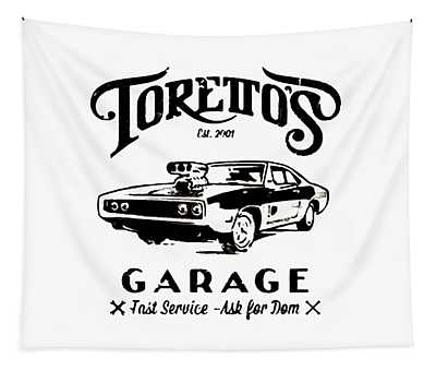 Toretto's Garage Tapestry