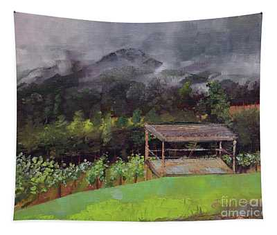 Touch The Clouds - At Ott Farms And Vineyard Tapestry