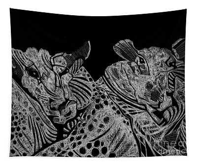 Tough Rams Tapestry