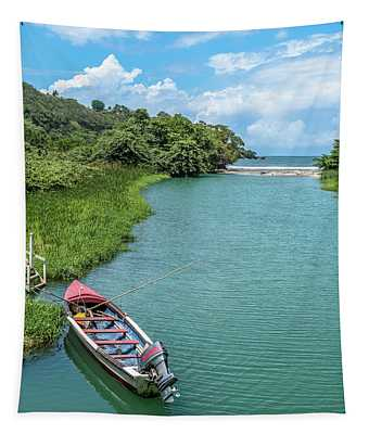 Tour Boat In Jamaica Tapestry