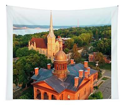 Towering Over Stillwater And St. Croix River Valley Tapestry