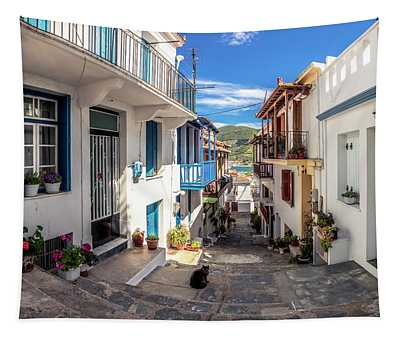 Town Of Skopelos Tapestry