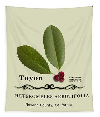 Toyon Christmas Berry Tapestry