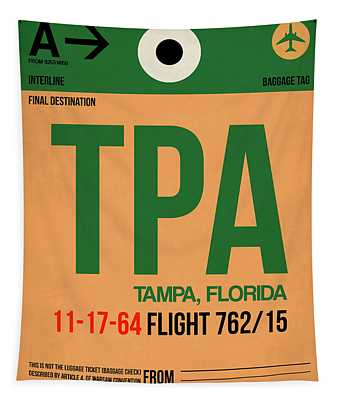 Tpa Tampa Luggage Tag I Tapestry