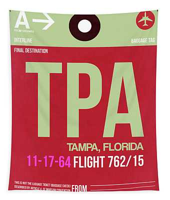 Tpa Tampa Luggage Tag II Tapestry