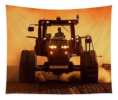 Tractor And Dust Tapestry