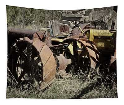 Tractor Trash Tapestry