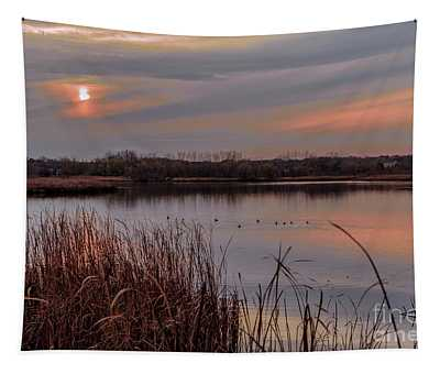 Tranquil Sunset Tapestry