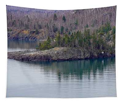 Tranquility In Silver Bay Tapestry