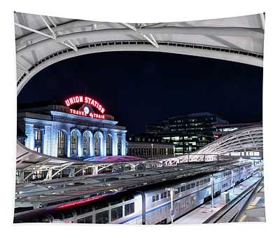Travel By Train - Union Station Denver #2 Tapestry