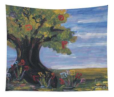 Tree Letters Tapestry
