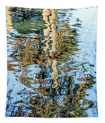 Tree Reflection Abstract Tapestry