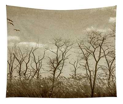 Treescape In Sepia Tapestry