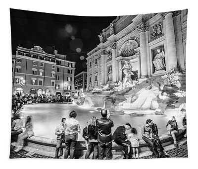 Trevi Fountain In Rome Tapestry