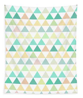 Triangle Abstract Background- Efg204 Tapestry