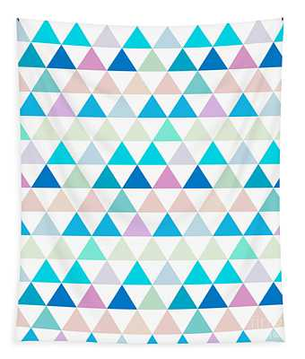 Triangle Abstract Background- Efg206 Tapestry