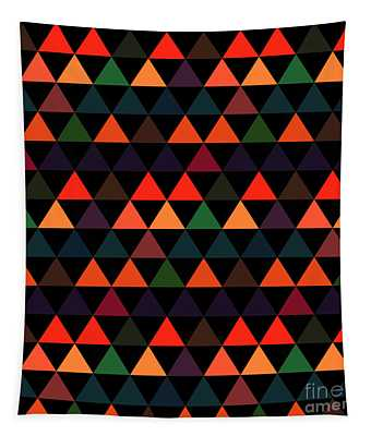 Triangle Abstract Background- Efg208 Tapestry